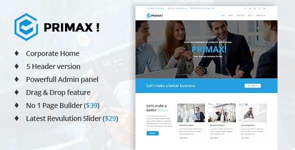 Primax - Multi-Purpose Joomla Template