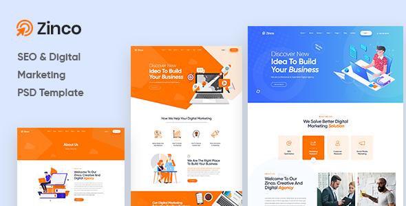 Zinco - Digital Marketing Agency PSD Template