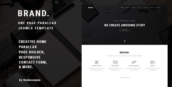 BRAND, - Creative One Page Parallax Joomla Template