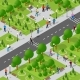 Isometric Park with Trees - GraphicRiver Item for Sale