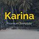 Karina Creative Google Slide Template - GraphicRiver Item for Sale