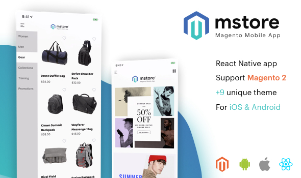 MStore Magento - the complete react native app for Magento 2 Download