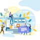 People Communicate via Internet Using Mobile App - GraphicRiver Item for Sale
