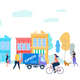 Human Life in Modern City - GraphicRiver Item for Sale