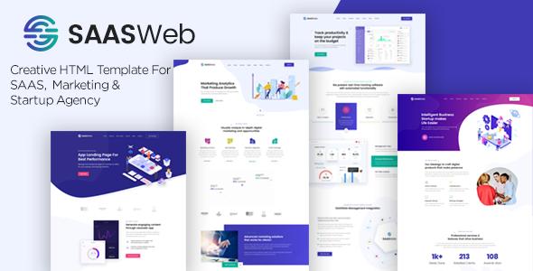 Saasweb – Creative HTML5 Template for Saas, Startup & Agency