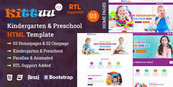 Kittuu - Kindergarten & Preschool Education HTML Template