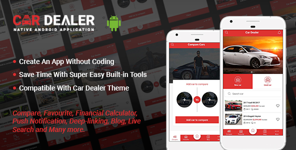 Make A Car Dealer App With Mobile App Templates from CodeCanyon