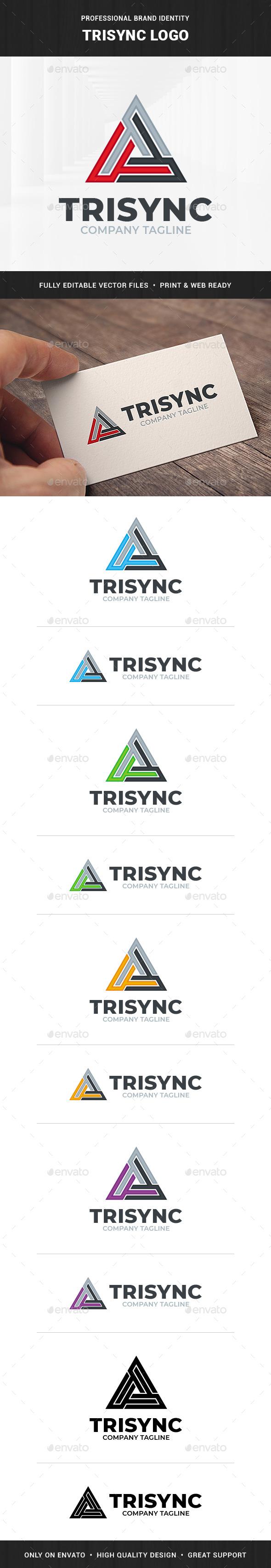 Trisync Logo Template