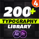 Essential Typography Library - Mogrt For Premiere Pro - VideoHive Item for Sale