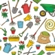 Seamless Pattern With Garden Tools - GraphicRiver Item for Sale