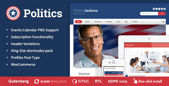 Politics -  Election Campaign Political WP Theme