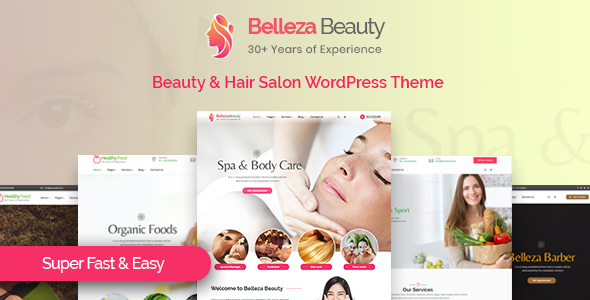 Belleza - Beauty & Hair Salon WordPress Theme