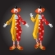 Funny Clown Character in Colorful Costume Set - GraphicRiver Item for Sale