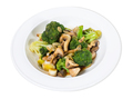Warm mushroom salad with broccoli. - PhotoDune Item for Sale