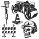 Road Works Emblems - GraphicRiver Item for Sale