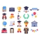 Graduation Day Icons - GraphicRiver Item for Sale