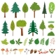 Forest Trees Wild Berries and Plants - GraphicRiver Item for Sale