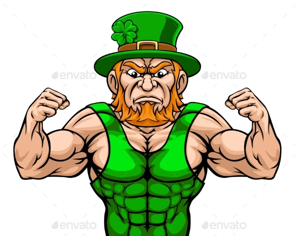 Leprechaun Sports Mascot Cartoon Character
