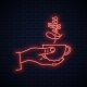 Hand Hold Coffee Neon Sign - GraphicRiver Item for Sale