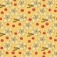 Seamless Pattern of Vanilla Flower and Cranberry - GraphicRiver Item for Sale