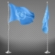 United Nations Organization Flag on Flagpole - GraphicRiver Item for Sale