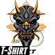 Oni Geometric Design Tshirt - GraphicRiver Item for Sale