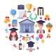 College Graduate Icons - GraphicRiver Item for Sale