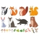 Wood Animals - GraphicRiver Item for Sale