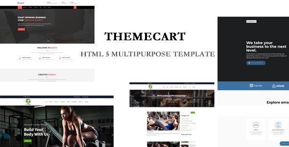 Themecart-  Multipurpose  HTML5 Responsive One / Multi Page Templates.