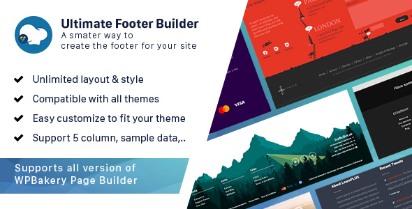 Ultimate Footer Builder - Addon WPBakery Page Builder (formerly Visual Composer) Download