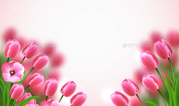 Mothers Day Flowers Composition