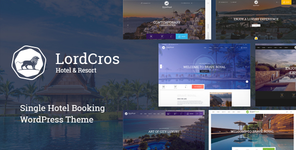 Download LordCros – Hotel Booking WordPress Theme nulled preview