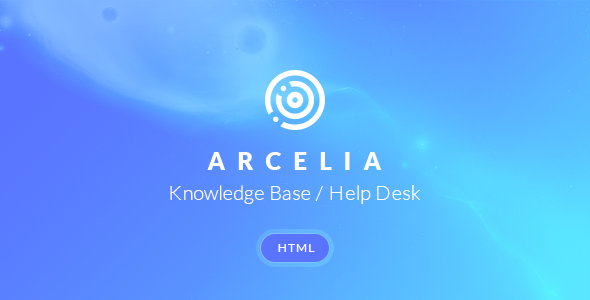 Arcelia — Knowledge Base / Help desk. HTML Template