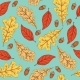 Autumn Seamless Pattern with Leaves and Acorns - GraphicRiver Item for Sale
