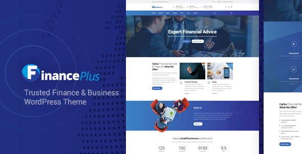 FinancePlus - Finance Business WordPress Theme