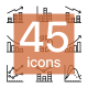 45 Data Analysis, Chart, Diagram Icons Set - GraphicRiver Item for Sale