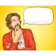 Bearded Man in Fashioned Clothes and Speech Bubble - GraphicRiver Item for Sale