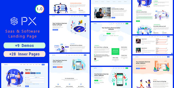 PXaas - App & Software Landing Page Theme