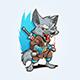 Ninja Wolf Mascot - GraphicRiver Item for Sale