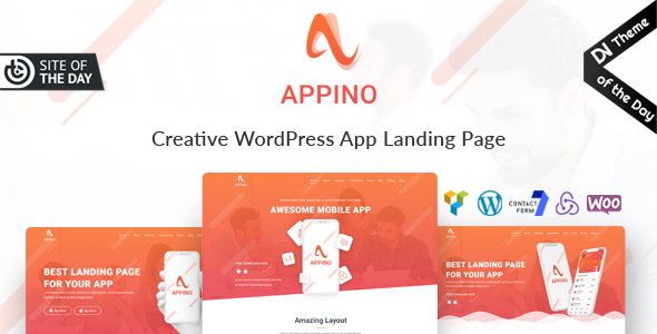 Download Appino – Creative WordPress App Landing Page