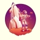 Astronaut or Spacemen Character Wearing Space Suit - GraphicRiver Item for Sale