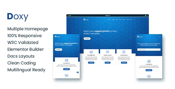 Doxy - Multi-Purpose Online Documentation, Knowledge Base WordPress Theme