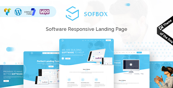 Sofbox - WordPress Software Landing Page