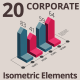 20 Isometric Corporated Elements - VideoHive Item for Sale