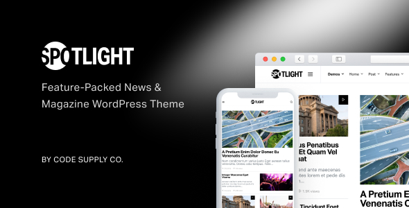 Spotlight - Feature-Packed News & Magazine WordPress Theme