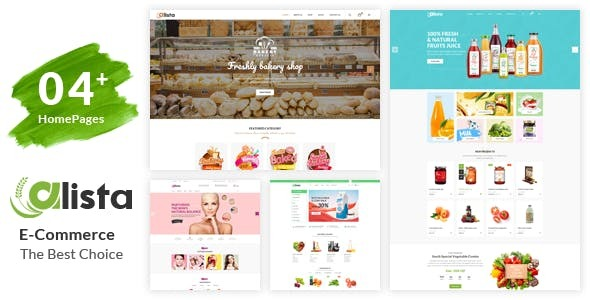 Alista – Organic Beauty Shop HTML Template