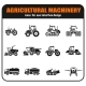 Agricultural Vehicles Icons Set - GraphicRiver Item for Sale