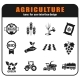 Agricultural Icon Set - GraphicRiver Item for Sale