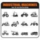 Symbols of Construction Machines - GraphicRiver Item for Sale