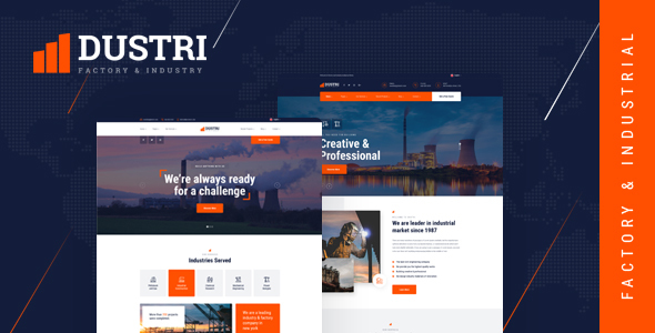 Dustri - Factory & Industrial PSD Template